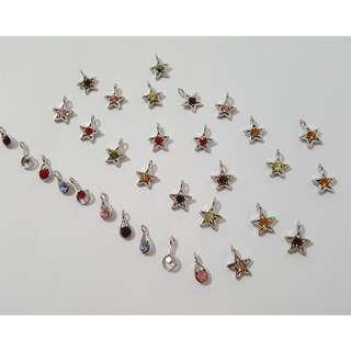 Multi Colour Star charms