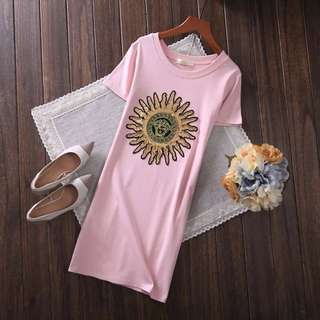 PO-Sunflower long shirt - pink