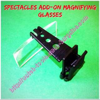 Light-Weight Exchangeable Magnifying Glasses Spectacles Clip-on Add-on Hands-free Magnifying Lenses With 3 Magnification Factors Specs 1.5x 2.5x 3.5x