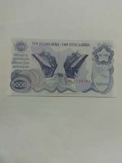 Yugoslavia 500000 dinara 1989 issue