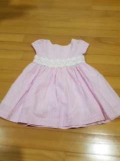 Ralph Lauren Lace Trim Dress Pink Size 9 mth