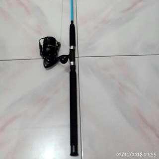 Satu Set Reel Nisin 4000..rod/joran Xenon Master Bahan Fiber Panjang 180 Cm