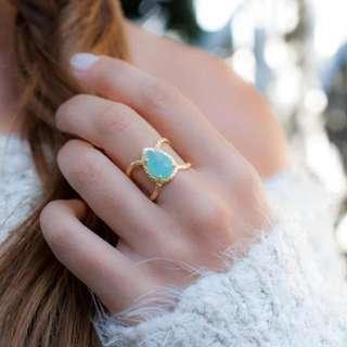 Aqua Blue Chalcedony Ring(PRE-ORDER)