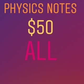 DSE Physics Notes ALL: $50