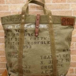 RRL by Ralph Lauren vintage canvas tote bag