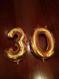 """""""30"""" balloons"""