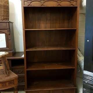 Matching pair of teak cabinets