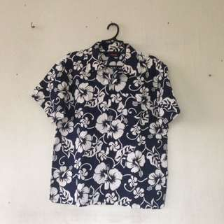 Floral polo buttondown