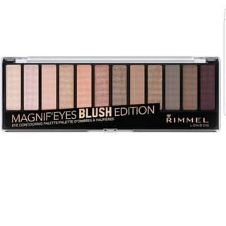 Bn rimmel magnif'eyes eyeshadow palette blush edition