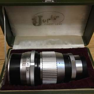 Juplen 135mm f2.8 silver body M42 Mount with original box