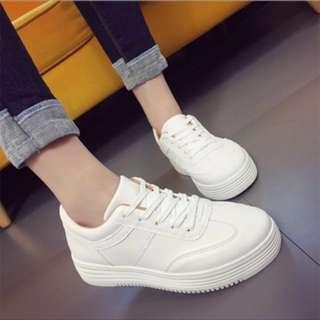 韓版 牛皮小白鞋