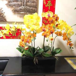 Artificial Flower Arrangement - Orchid Flower