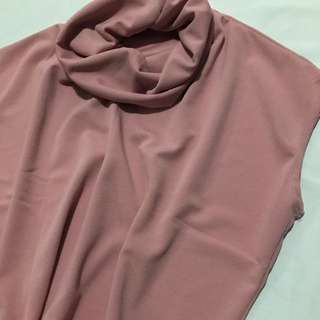Cowl neck top- crepe fabric