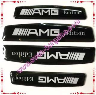 Universal 3D Mercedes AMG Edition Automotive Car Doors Edge Guard Protective Decorative Decal Strip