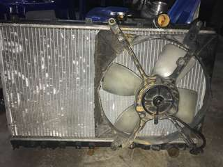 Radiator double layer siap kipas wira