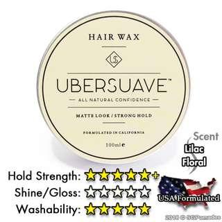 (Free mail) Ubersuave 1.0 Hair Wax - Pomade Alternative