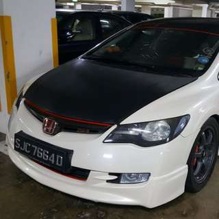 Type r hood with carbon sticker