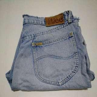 Original Lee Denim tattered / ripped shorts