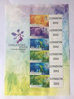 Singapore 2005 IOC My stamp sheetlet mnh