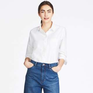 *2 for $20* UNIQLO Women Oxford Long Sleeve Shirt in White
