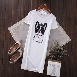 PO-Dogdog long shirt - white