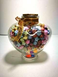 Handmade lucky stars Heart bottle #midmay75