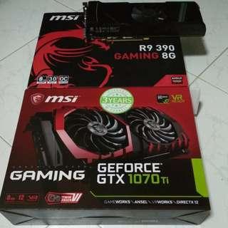 ASUS GTX 590 / MSI GAMING GTX 1070TI 8GB / MSI GAMING R9 390 8GB GPU