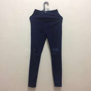 HW Ripped Jeans Dark Blue