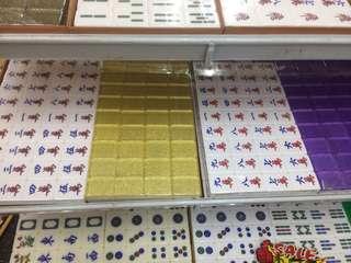 Crystal mahjong tiles