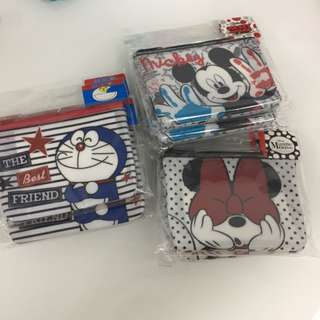 Purse - doraemon Mickey Mouse
