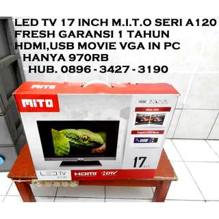 "M.I.T.O Led Tv A120 Size 17"" Garansi 1Th Hdmi Usb Movie KATAPANG SOREANG"