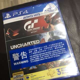 PS4 2018 HITS GT SPORT UNCHARTED 4  PSN+ KNACK 2 可散賣
