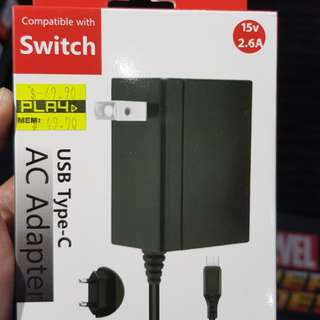 AC Adapter (Nintendo Switch Compatible)