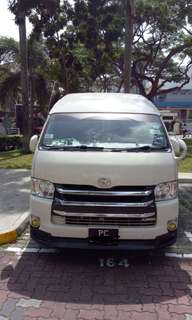 14 seater van Toyota Hiache for rent