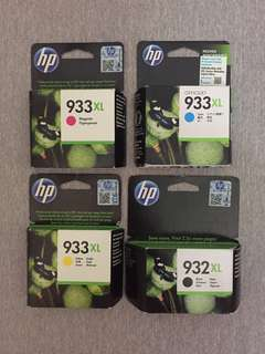 HP ink 932xl and 933xl set