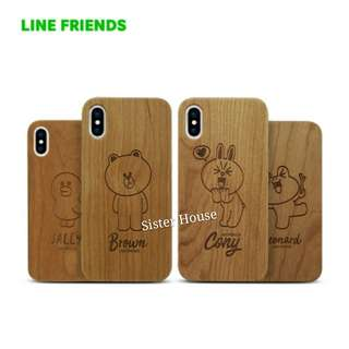 (包郵)🇰🇷LINE Friends Wood Phone Case 木製手機殼