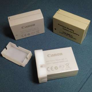 Canon Battery Pack NB-7L for sale (Used batteries x 3)