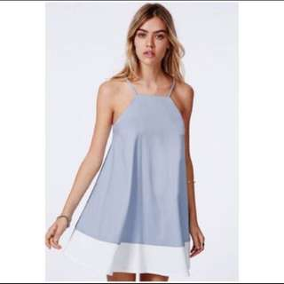 Missguided baby pastel blue swing flare cami dress