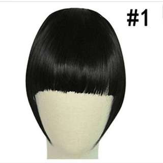 Black Front Hair Extension Straight