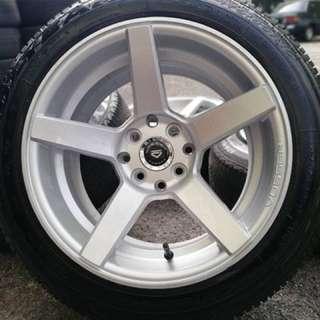 Vossen cv3 15 inch sports rim persona tyre 70%. Goreng pisang pakai cuka, confirm ini rim you suka!!!
