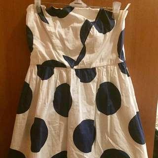 Polka dot tube dress