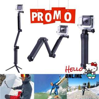 3Way Monopod Camera Grip Extend Arm Selfie Stick Tripod Mount GOPR EKEN SJCAM