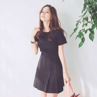 Black Korean Office Dress