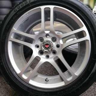 Vossen cv5 16 inch sports rim ford fiesta tyre 70%. Pinjam sinarmu nurnilam sari, brother ini rim confirm mari!!!