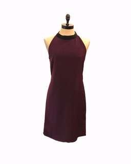 Halter collar dress - violet