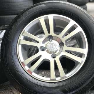 Original sports rim waja cps 15 inch tyre 95%. Ini rim you langgar itu lubang, ituk lubang yang picah worrr!!!
