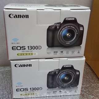 Brandnew Canon eos 1300d (18-55mm) CMP with Canon PH warranty