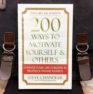 《Preloved Paperback + 2-In-1 Special Edition》Steve Chandler - 200 WAYS TO MOTIVATED YOURSELF & OTHERS : Change Your life Forever & Produce Insane Results
