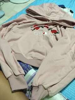 Oversized Korean rose Gucci hoodie(BN)