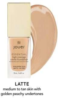 JOUER Essential High Coverage Crème Foundation (INSTOCK)